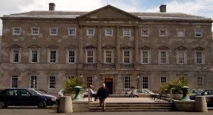 Leinster House: 18th century Dublin townhouse of the Duke of Leinster. It is now the seat of parliament. (Photo credit: Wikipedia)