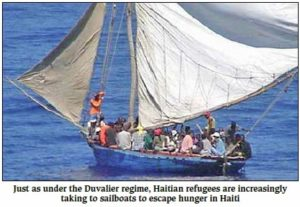 Haitians continue to seek escape.
