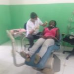 Ignacio treating one of the patients